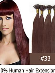 3 Set 20 Zoll Keratin Stockspitze / i Spitze 0,5 g / s malaysischen Menschenhaarverlängerungen 13 Farben für Frauen Schönheit