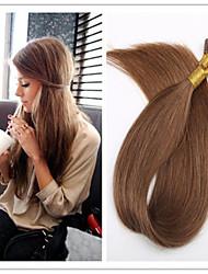 3pcs / lot 1 g / s 100g / pc i bleiben vor-verbundene Fusion Haarverlängerungen gerade Keratin brasilianische Menschen reines Haar auf