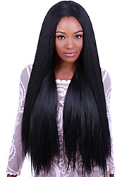 Peruvian Virgin Light Yaki Lace Front Human Hair Wigs Lace Front Wigs 8-24inch For Black Woman Density 120%