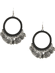 Fashion Women Vintage Multi Leaf Drop Earrings
