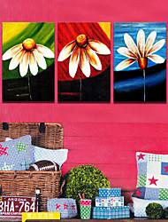 painel star®3 visuais flores tulipa decorativos arte da parede da lona moderno para a decoração da sala de jantar pronto para pendurar
