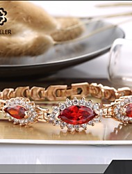 Sjeweler Girls Lady's Beautiful Red Zircon Brecelet