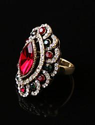 Party/Casual Fashion Vintage Alloy/Rhinestone/Gemstone & Crystal Statement Ring