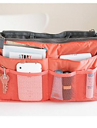 Women 's Nylon Professioanl Use Cosmetic Bag - Pink/Blue/Orange