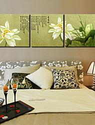 panneau de star®3 visuelle fleur de lys d'eau de peinture chinoise art mur de toile de salle à manger décoration prêt à accrocher