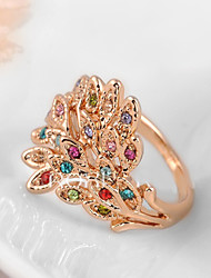 Women's Cubic Zirconia/Exquisite Peafowl Alloy Ring