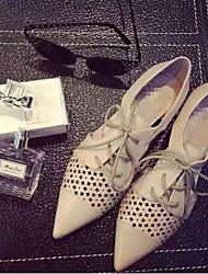 Women's Shoes  Flat Heel Pointed Toe Flats Casual Black/Beige