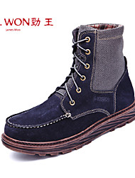 Men's Shoes Outdoor/Office & Career/Casual Leather Boots Blue/Brown