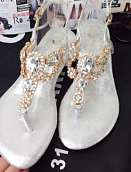 Women's Shoes Chunky Heel Heels Sandals Casual Silver/Gold