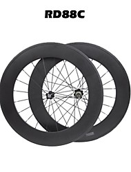 carbon bicycle wheel 88mm tuubular road racing wheelset 700c 3k matt/glossy