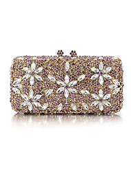 Miss Ricy Women's Gold Plating Rhinestone Luxury Evening Bag