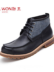 Men's Shoes Outdoor/Office & Career/Casual Leather Boots Black/Brown