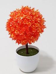 planta esférica com vaso branco