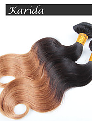 4 Pieces Body Wave Ombre Hair Wholesale Brazilian Hair, No tangle, No shedding and Soft Brazilian Ombre Hair