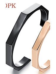 OPK®Stainless Steel Section of Vacuum Plating Rose Gold Bracelet Feeling
