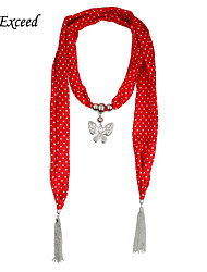 D Exceed Butterfly Jewelry Necklace Delicate Spot Chiffon Scarf for Wommen Charm Scarf Designer