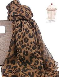 Women Fashion Chiffon Leopard Big Scarf Shawls