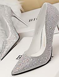Women's Shoes Black/Blue/Gold/Grey/Pink/Silver Stiletto Heel 3in-3 3/4in Pumps/Heels (PU)
