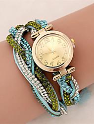 Mujer Reloj de Moda Reloj Pulsera Reloj de Pulsera Cuarzo PU Banda Destello Bohemio Múltiples Colores # 5 # 6 # 7 # 8 # 9