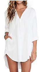 Women's Sexy Beach Casual Plus Sizes Dovetail Style Long Shirt