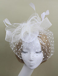 Women Tulle / Feather Party / Vintage Headpiece Fascinators