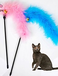 Cat Toy Pet Toys Teaser Feather Toy Bell Textile