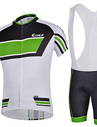 Cycling Jersey & Bib Shorts Quick Dry Bike Short Sleeve Clothing Set Bicycle Suit for Men