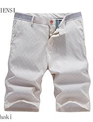 verano cortocircuitos ocasionales de los cortocircuitos de 5 pantalones cinco pantalones de playa nuevo patrón de lino delgado.