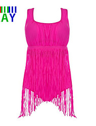 Damen Einteiler  -  Quasten/Einfarbig Push-Up Nylon/Polyester Halfter
