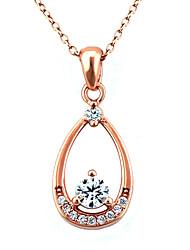 South Korea FashionSilver Set Auger Drops Necklace F076