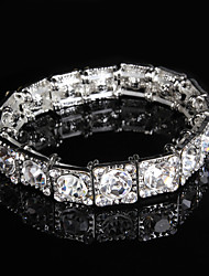 Tennis Bracelets 1pc,Transparent / Silver Bracelet Fashionable / Rhinestone Wedding Jewellery