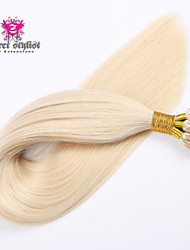 100g/lot Stock Light Color Mongolian Remy Stick Tip Hair Extensions 20 inch I Tip Hair Extensions 100gram NEW!!!