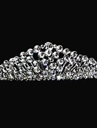 Women's / Flower Girl's Alloy Headpiece-Wedding Tiaras 1 Piece Clear