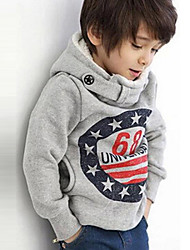 Boy's Cotton/Polyester British Style Leisure Number 68 Long Sleeve Hoodie & Sweatshirt
