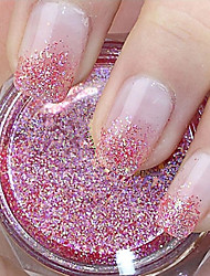 Red Glitter Powder Nail Art Decorations