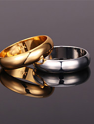 "U7® Unisex Lover's Rings ""18K"" Stamp Real Gold/Platinum Plated 5MM Party  Jewelry Classic Wedding Promise Band Rings"