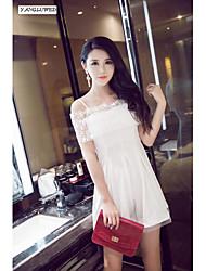estilingue moda mini-vestido de cocktail vestido de festa à noite clubwear rendas novas mulheres sensuais