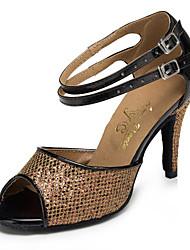 Sapatos de Dança ( Castanho ) - Mulheres - Não Personalizável - Salsa