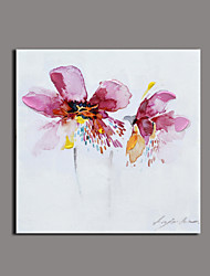 Floral/Botanical Oil Painting Hand-Painted Canvas Wall Art Other Artists Printed Plus Handpainted P652-2