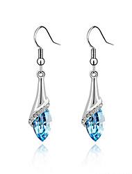 cristal de luxe de style européen boucles d'oreilles élégantes et raffinées