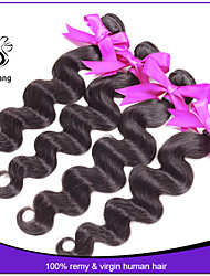 7A Unprocessed Peruvian Virgin Hair Peruvian Body Wave 100% Human Hair Bundles Weave 3pcs