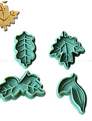 4PCS  Leaves Pattern Cake and Cookie Cutter Mold