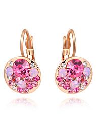 Z&X® Rose Gold Zircon Drop Earrings Wedding/Party/Daily