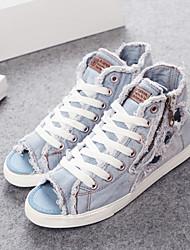 DamenLässig-Denim Jeans-Flacher Absatz-Komfort / Gladiator / Rundeschuh-Blau / Marineblau