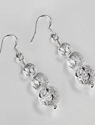 S925 Silver Drop Earring Design for Women Bead Design Earring
