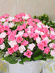 High Quality Artificial Flowers for Home Decoration Bright Color Rose Silk Flower for Wedding Holiday Decorations
