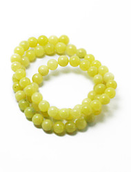 Beadia 39Cm/Str (Approx 63Pcs) Natural Lemon Jade 6mm Round Yellow Stone Loose Beads DIY Accessories