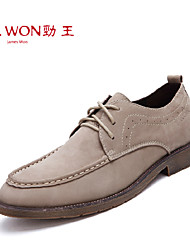 Men's Shoes Office & Career/Party & Evening/Casual Leather Oxfords Ivory