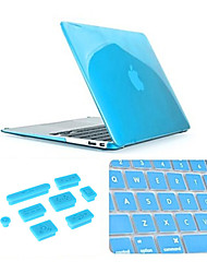 "3 in 1 Crystal Clear Case with Keyboard Cover and Silicone Dust Plug for Macbook Pro 13.3"" (Assorted Colors)"