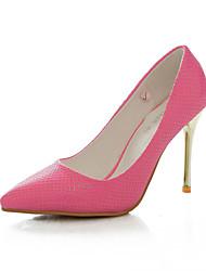 Women's Heels Spring Summer Fall Comfort PU Wedding Dress Party & Evening Stiletto Heel Blue Yellow Green Pink White Walking